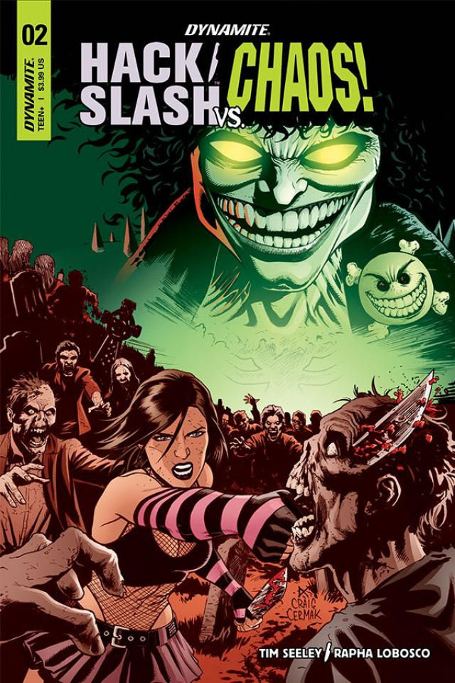 Hack/Slash vs. Chaos! #2 (Cermak Cover)