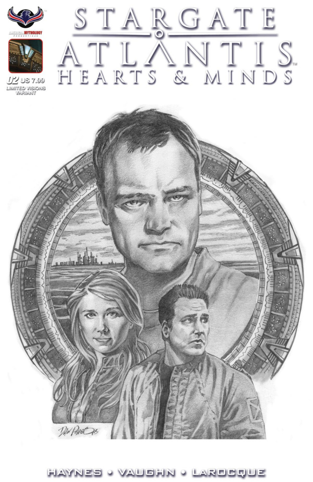 Stargate Atlantis: Hearts & Minds #2 (Dan Parsons B/W Cover)