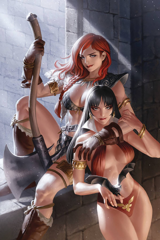 Vampirella / Red Sonja #8 (Yoon Virgin Cover)