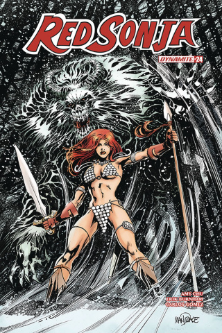 Red Sonja #24 (Mandrake Cover)