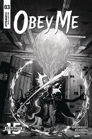 Obey Me #3 (10 Copy Herrera B&W Cover)