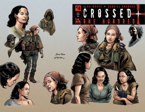 Crossed + One Hundred #4 (Design Sketch Cover)