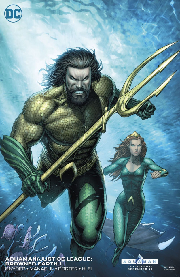 Aquaman / Justice League: Drowned Earth #1 (Variant Cover)