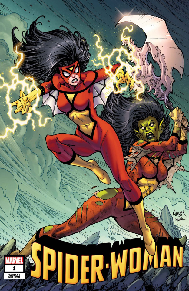Spider-Woman #1 (Nauck Villains Cover)