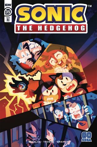 Sonic the Hedgehog #35 (10 Copy Fourdraine Cover)