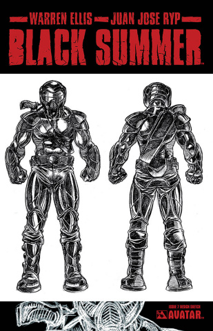Black Summer #7 (Design Sketch Cover)