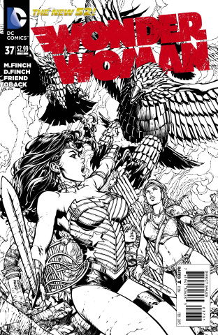 Wonder Woman #37 (Black & White Cover)