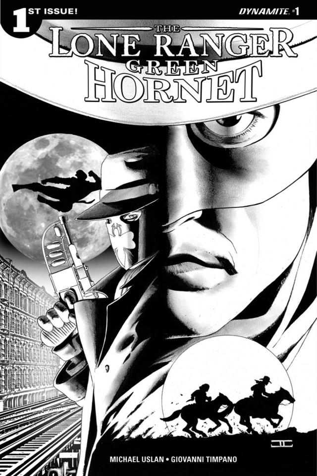 The Lone Ranger / The Green Hornet #1 (25 Copy B&W Cover)