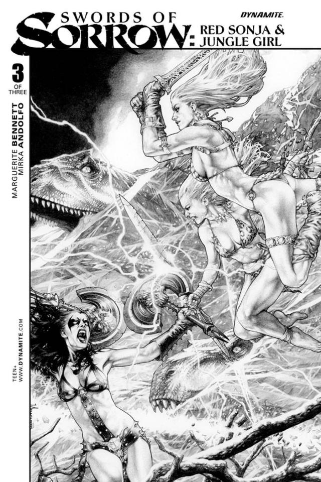 Swords of Sorrow: Red Sonja & Jungle Girl #3 (10 Copy Cover)