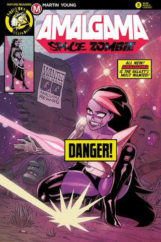 Amalgama: Space Zombie #5 (Young Risque Cover)