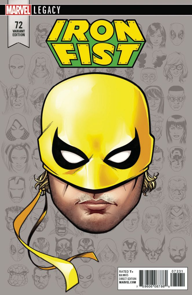 Iron Fist #73 (McKone Legacy Headshot Cover)