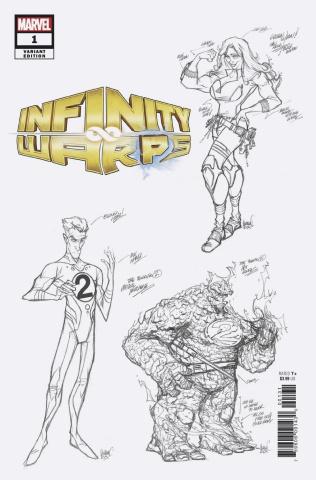 Infinity Wars: Infinity Warps #1 (Herrera Design Cover)