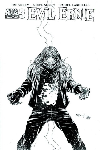 Evil Ernie #4 (15 Copy Syaf B&W Cover)