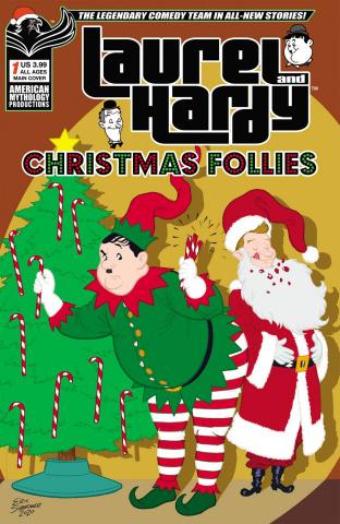Laurel and Hardy: Christmas Follies #1 (Shanower Cover)