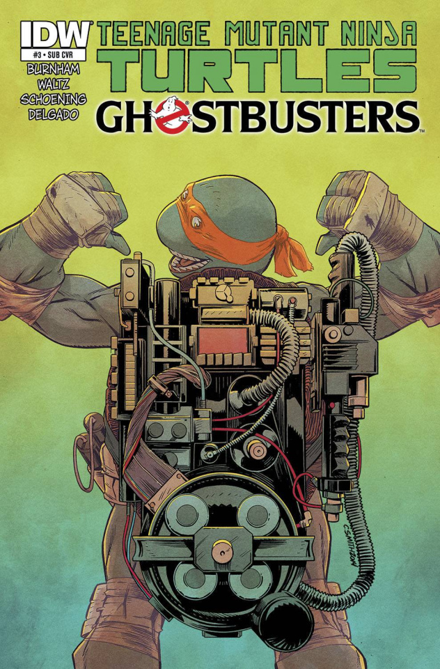 Teenage Mutant Ninja Turtles / Ghostbusters #3 (Subscription Cover)