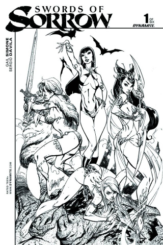 Swords of Sorrow #1 (Rare Campbell B&W Cover)
