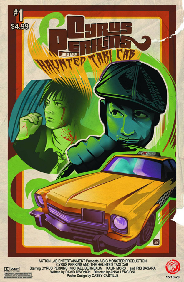 Cyrus Perkins and the Haunted Taxi Cab #1 (Movie Poster Cover)
