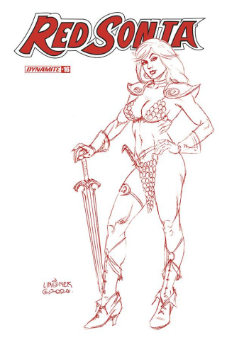 Red Sonja #16 (Linsner Tint Dressed Cover)