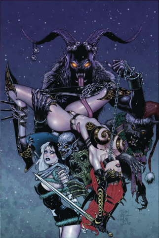 Tarot: Witch of the Black Rose #119 (Yuletide Mash Cover)