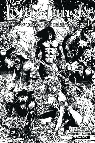 Lords of the Jungle #1 (10 Copy Castro B&W Cover)