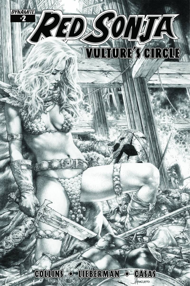 Red Sonja: Vulture's Circle #2 (10 Copy Anacleto B&W Cover)