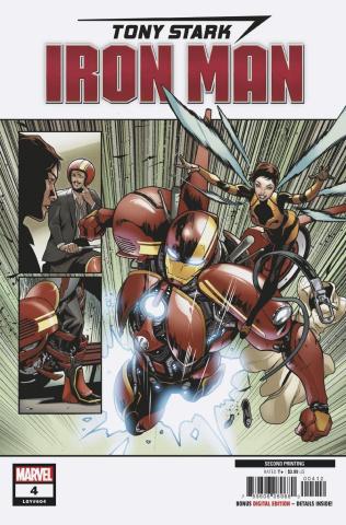 Tony Stark: Iron Man #4 (Schiti 2nd Printing)
