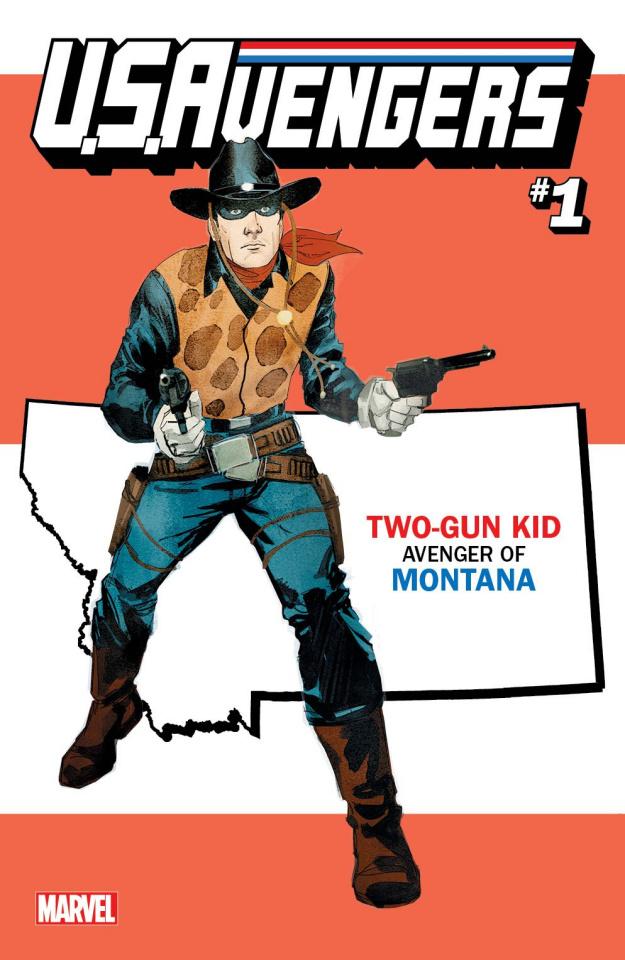 U.S.Avengers #1 (Reis Montana State Cover)