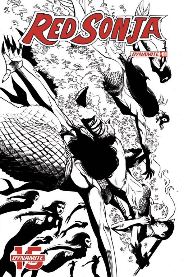 Red Sonja #1 (50 Copy Seduction B&W Cover)