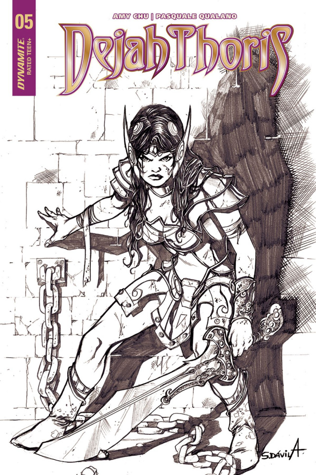 Dejah Thoris #5 (20 Copy Davila B&W Cover)