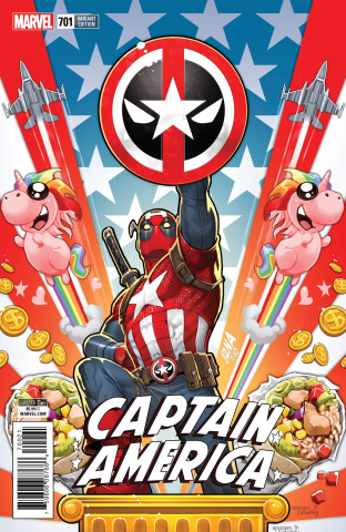 Captain America #701 (Nakayama Deadpool Cover)