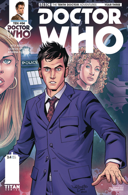 Doctor Who: New Adventures with the Tenth Doctor, Year Three #4 (Alves Cover)