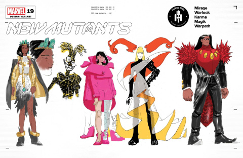 New Mutants #19 (Lins Character Design Cover)