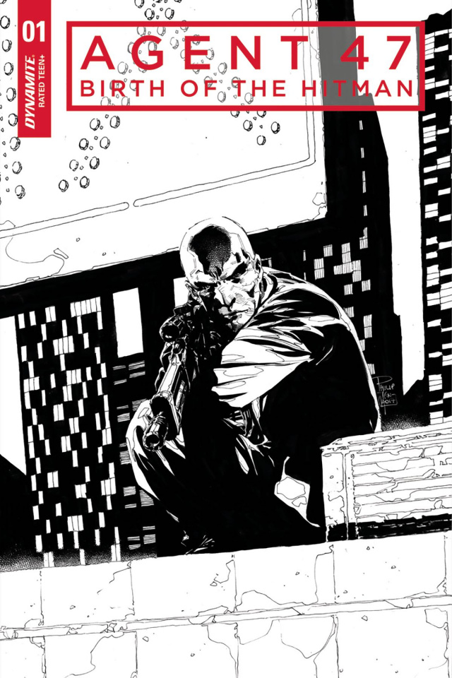 Agent 47: Birth of the Hitman #1 (20 Copy Tan B&W Cover)