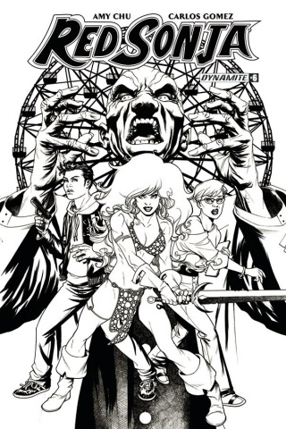 Red Sonja #6 (20 Copy McKone B&W Cover)