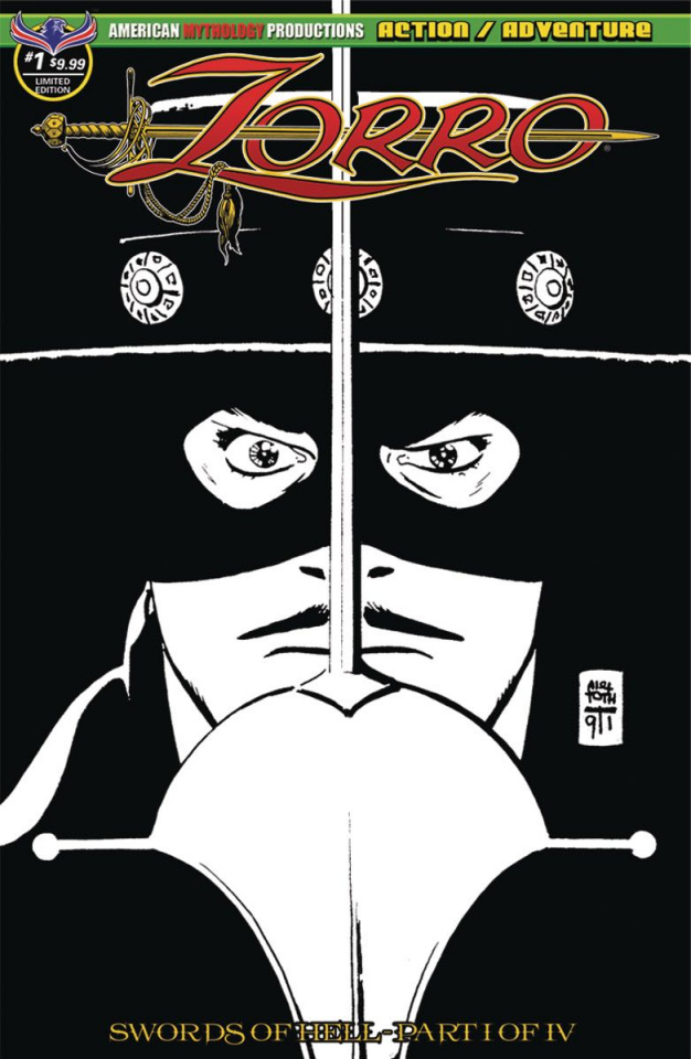 Zorro: Swords of Hell #1 (Toth Visions of Zorro Cover)