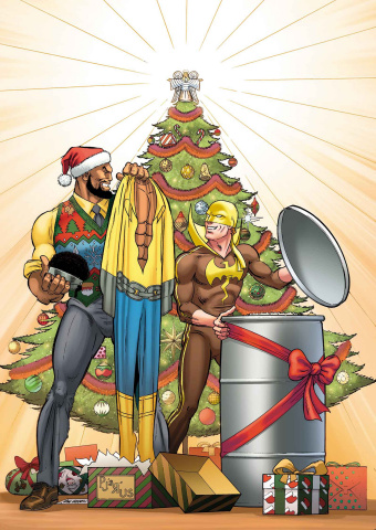 Power Man & Iron Fist Sweet Christmas Annual #1 (Von Eeden Cover)