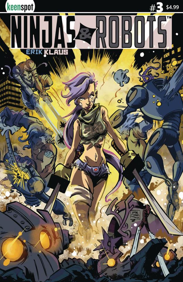 Ninjas & Robots #3 (Jamie Jones Cover)