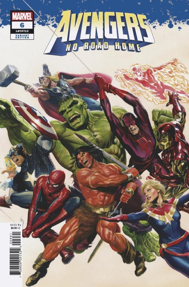 Avengers: No Road Home #6 (Alex Ross Cover)