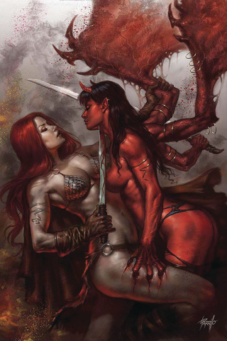 Red Sonja: Age of Chaos #1 (Parrillo Ultra Limited Seduction Cover)