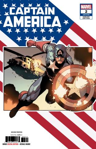 Captain America #2 (Yu 2nd Printing)