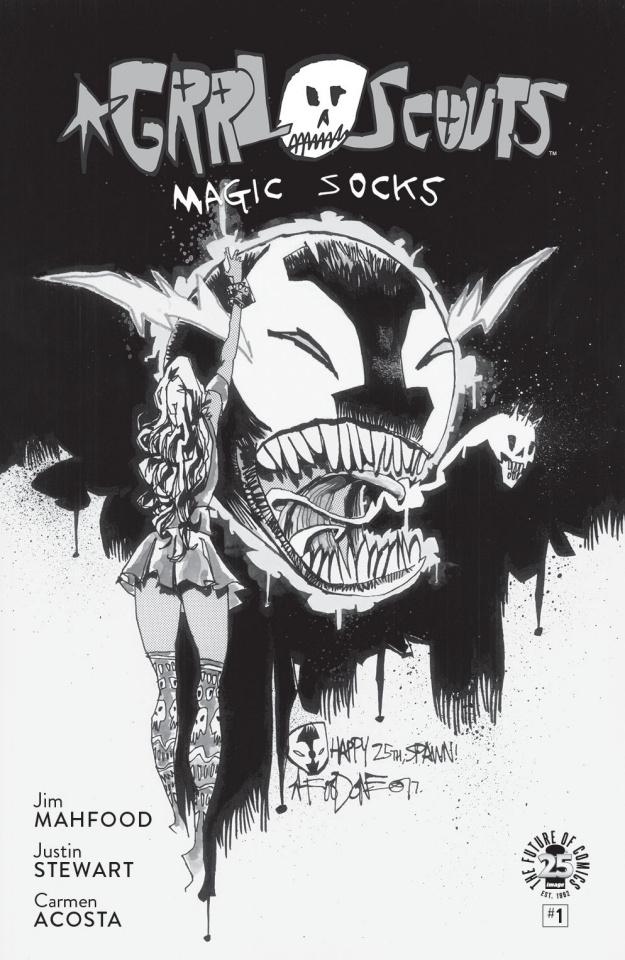 Grrl Scouts: Magic Socks #1 (Spawn Month B&W Cover)