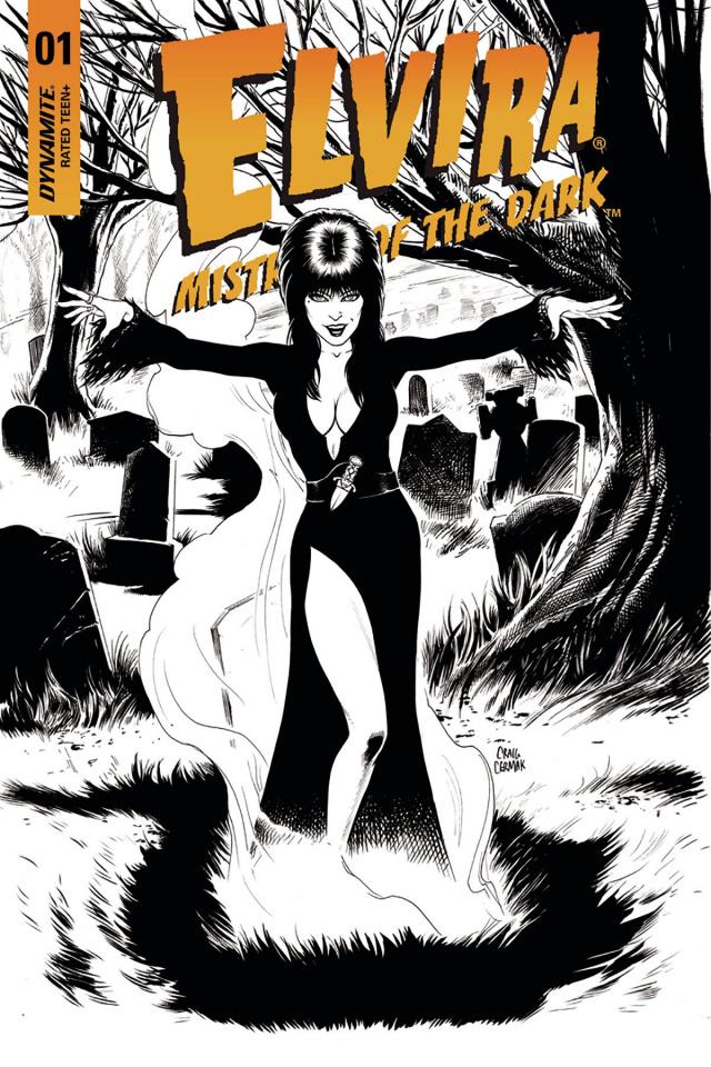 Elvira: Mistress of the Dark #1 (10 Copy Cermak B&W Cover)