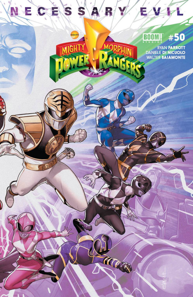 Mighty Morphin' Power Rangers #50 (Connecting Cover)