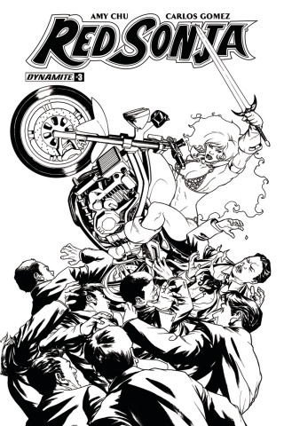 Red Sonja #3 (20 Copy McKone B&W Cover)