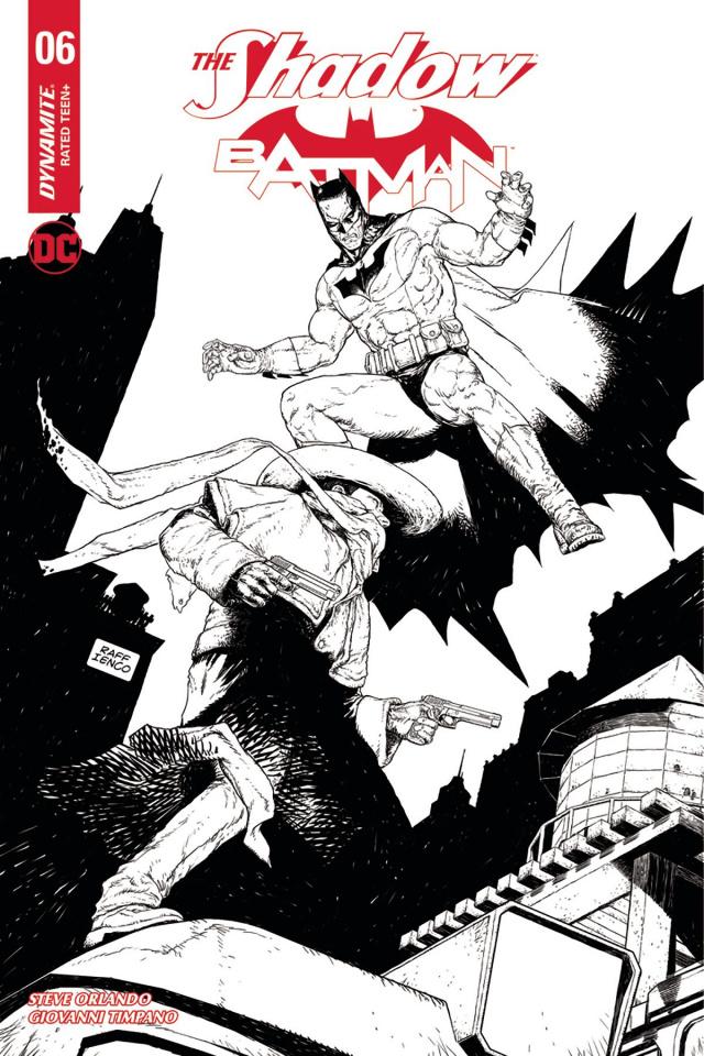 The Shadow / Batman #6 (10 Copy Ienco B&W Cover)