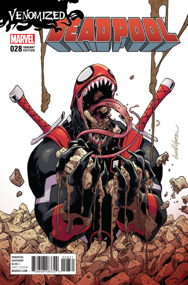 Deadpool #28 (Lopez Venomized Cover)