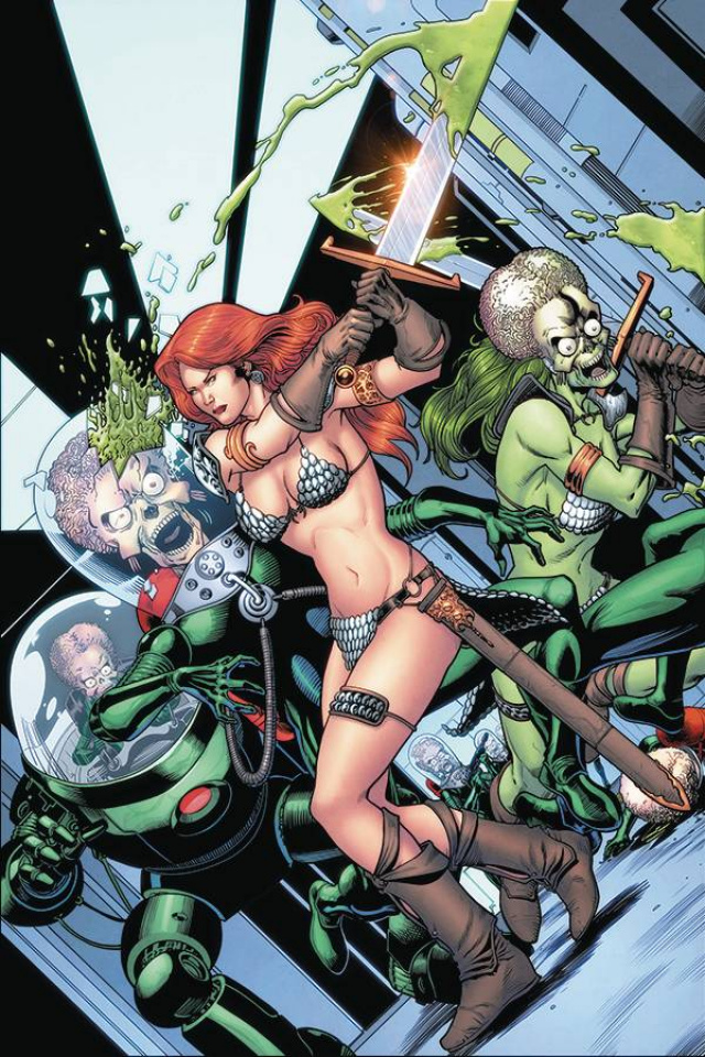 Mars Attacks / Red Sonja #5 (20 Copy Kitson Virgin Cover)