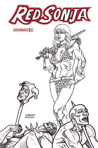 Red Sonja #23 (15 Copy Linsner B&W Cover)