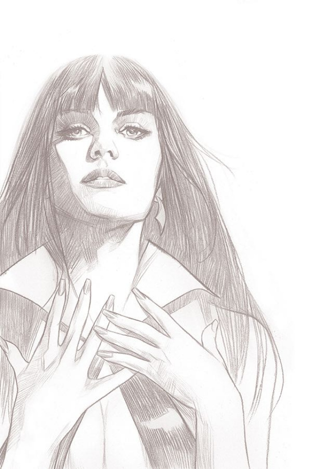 Vengeance of Vampirella #1 (15 Copy Oliver B&W Virgin Cover)