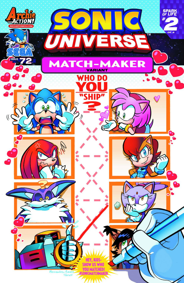 Sonic Universe #72 (Match Maker Cover)